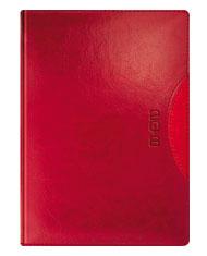 Kalendarze ksiązkowe w kolorze bordowo-czerwonym