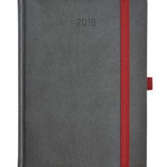 Kalendarz książkowy Zig-zag szaro-czarny