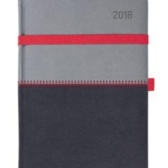 Kalendarz książkowy Zigo szaro-czarny