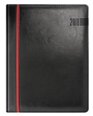 Kalendarze ksiażowe czarny z czerwonym