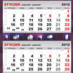 Kalendarze trójdzielne z indywidualnym projektem