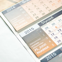 Kalendarze trójdzielne z indywidualnym kalendarium