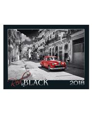 Kalendarze wieloplanszowe Red in Black