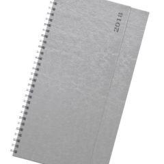 Terminarz biurkowy Nebraska srebrny