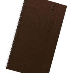 Terminarz biurkowy Nebraska brązowy