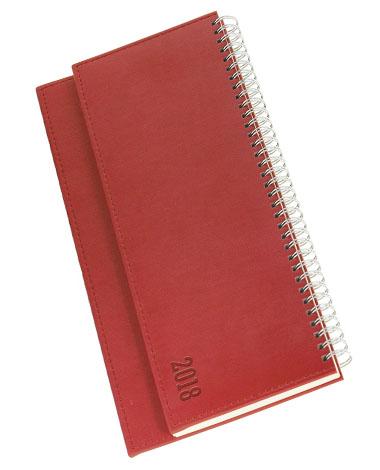 Terminarz biurkowy Vivela - czerwony