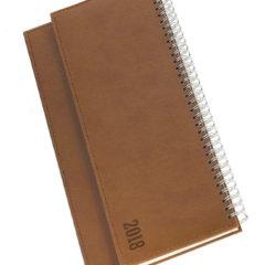 Terminarz biurkowy Vivela - brązowy