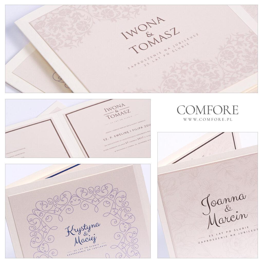 Zaproszenia na rocznicę ślubu - Gracja - COMFORE-01
