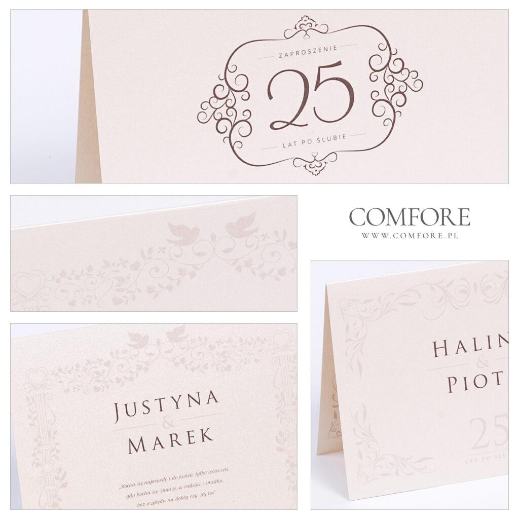 Zaproszenia na rocznicę ślubu - Simple - COMFORE-01