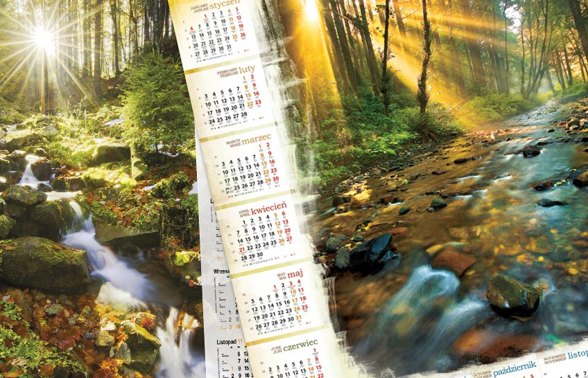 Efektowne kalendarze plakatowe dla firm 2020