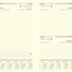 Kalendarium dzienne A5 - registry wycięte
