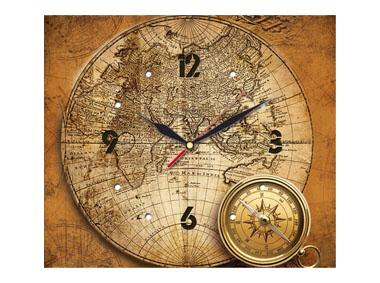 kalendarz jednodzielny z zegarem Mapa