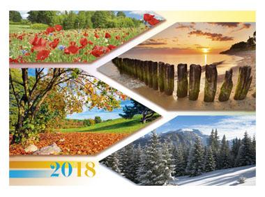 kalendarz jednodzielny Pory roku