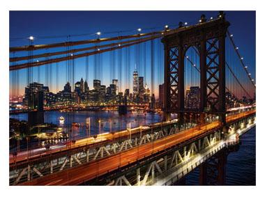 kalendarz jednodzielny Most nocą