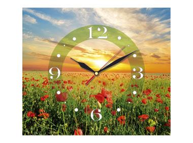 kalendarz jednodzielny z zegarem Makowa łąka