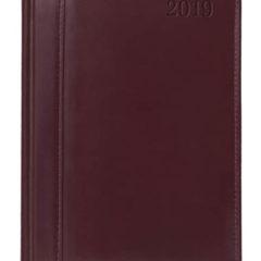kalendarz książkowy Skóra Naturalna - bordowy