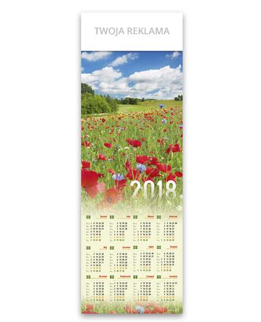 kalendarz plakatowy 1/2 B1 Makowa łąka
