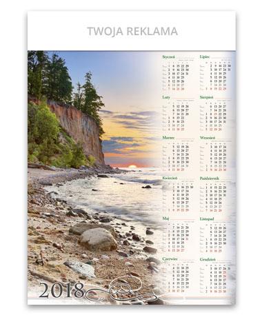 kalendarz plakatowy A1 Bałtycki klif
