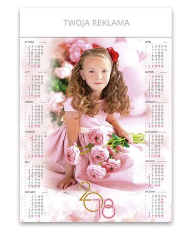 kalendarz plakatowy A1 Dziewczynka