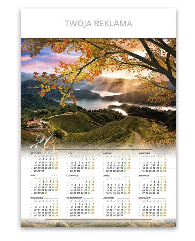 kalendarz plakatowy A1 Górski zachód słońca