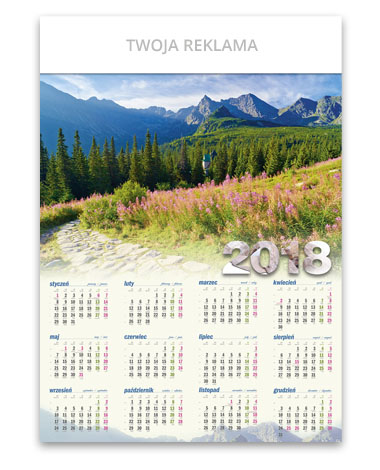 kalendarz plakatowy A1 Hala Gąsienicowa