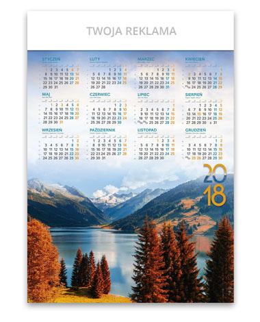 kalendarz plakatowy A1 Jesienne górskie jezioro