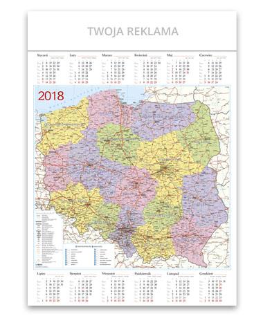 kalendarz plakatowy A1 Mapa Polski