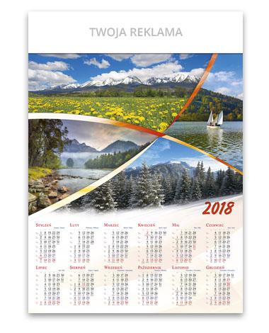 kalendarz plakatowy A1 Polskie góry