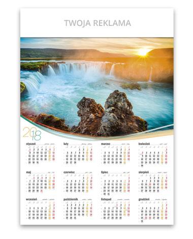 kalendarz plakatowy A1 Wodospad