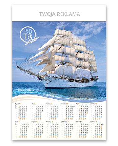 kalendarz plakatowy B1 Żaglowiec