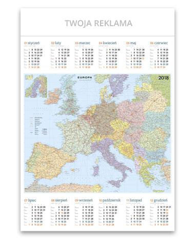 kalendarz plakatowy B1 Mapa Europy