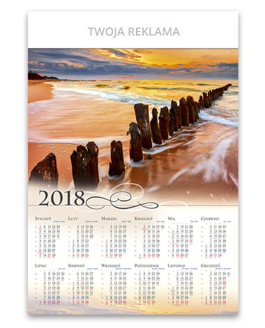 kalendarz plakatowy B1 - Zachód nad Bałtykiem