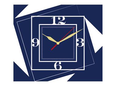 kalendarz tójdzielny VIP z zegarem - granatowy