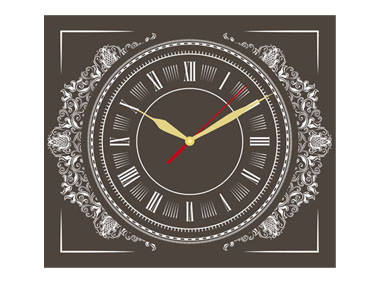 kalendarz tórjdzieny VIP z zegarem - brązowy