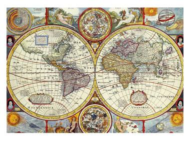 kalendarz trójdzielny Antyczna mapa