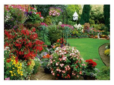 kalendarz trójdzielny Kwiecisty Ogród