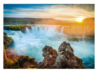 kalendarz trójdzielny Wodospad