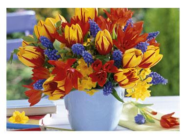 kalendarz trójdzielny XL Bukiet kwiatów
