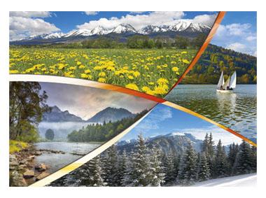 kalendarz trójdzielny XL Polskie góry