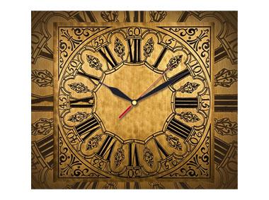 kalendarz trójdzielny z zegarem Antyczny