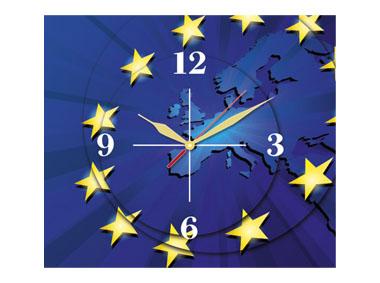 kalendarz trójdzielny z zegarem Europa