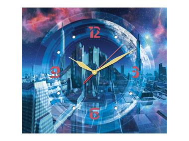 kalendarz trójdzielny z zegarem Town