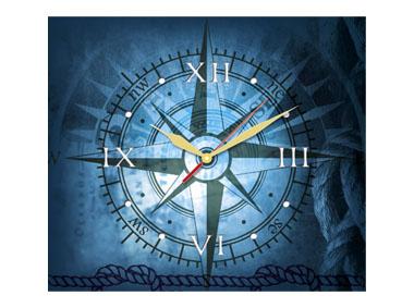 kalendarz trójdzieny z zegarem Róża Wiatrów