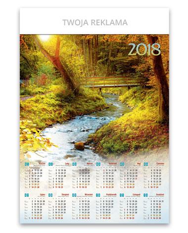 kalendarz wieloplanszowy B1 Jesienny strumień