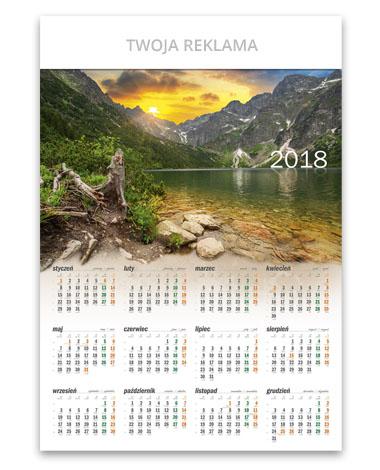 kalendarz plakatowyTatrzańskie jezioro