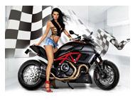 kalendarze jednodzielne Dziewczyna i motor