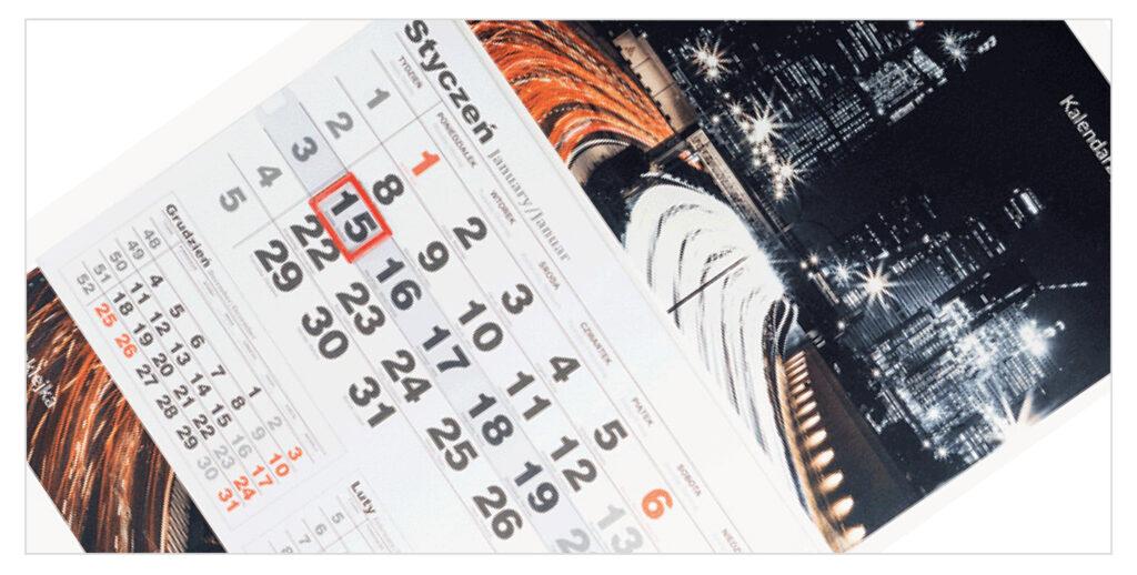 kalendarze jednodzielne duże
