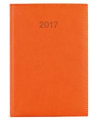 kalendarz książkowy A5 dzienny w oprawie koloru pomarańczowego