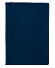 kalendarz ksiażkowy A5 ze skóry niebieski