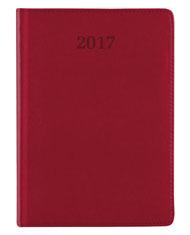 kalendarz książkowy w eleganckiej oprawie czerwonej